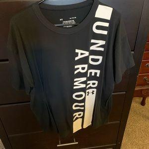 Black/white Under Armour workout tee XL